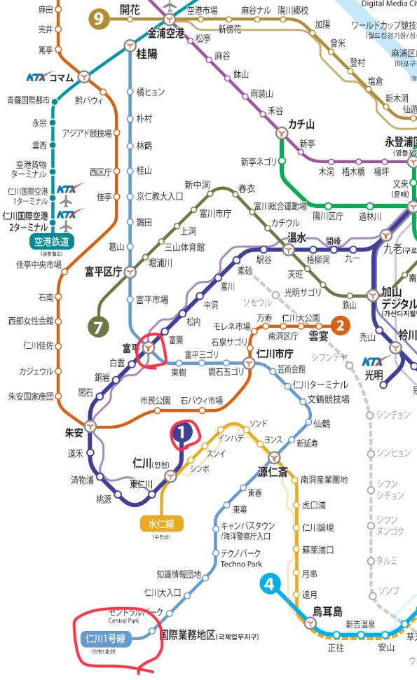 仁川 路線図