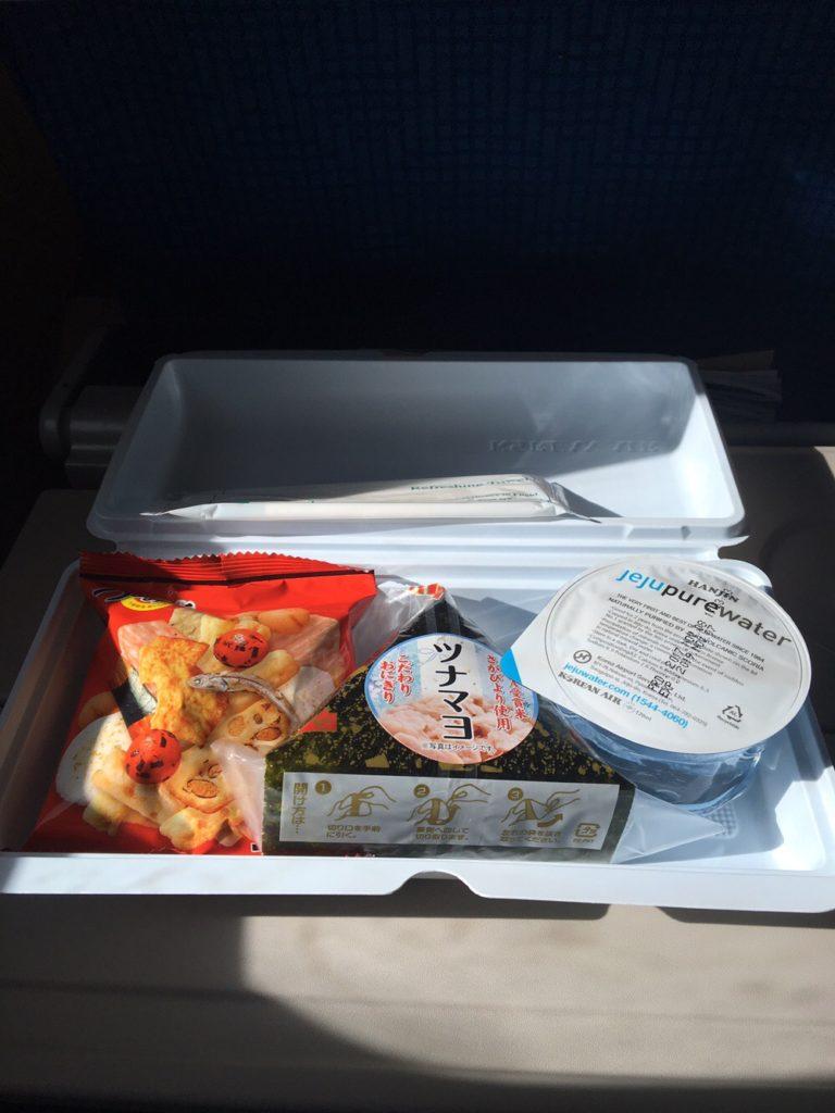 福岡 ソウル 行き 大韓航空 機内食
