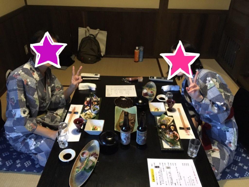 黒川 山の宿 新明館 晩ご飯
