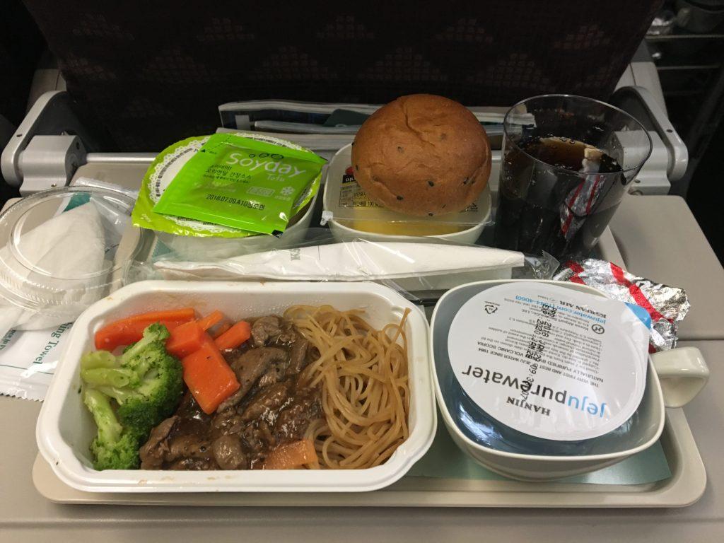 ソウル ハノイ 機内食 大韓航空