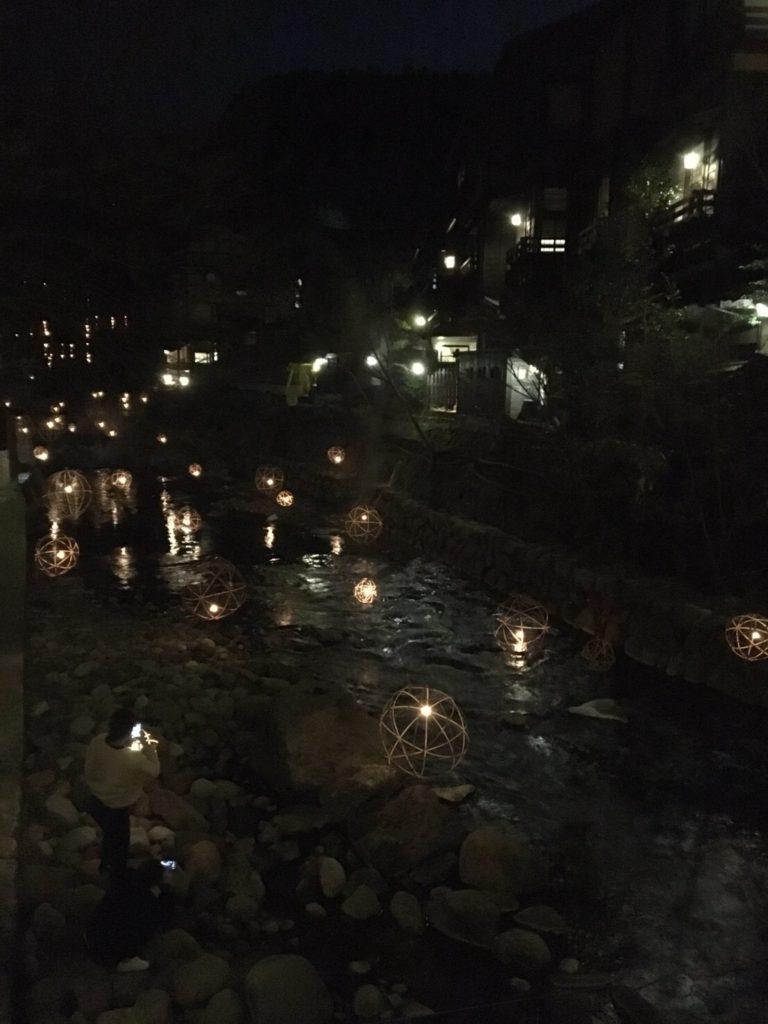 黒川温泉 夜