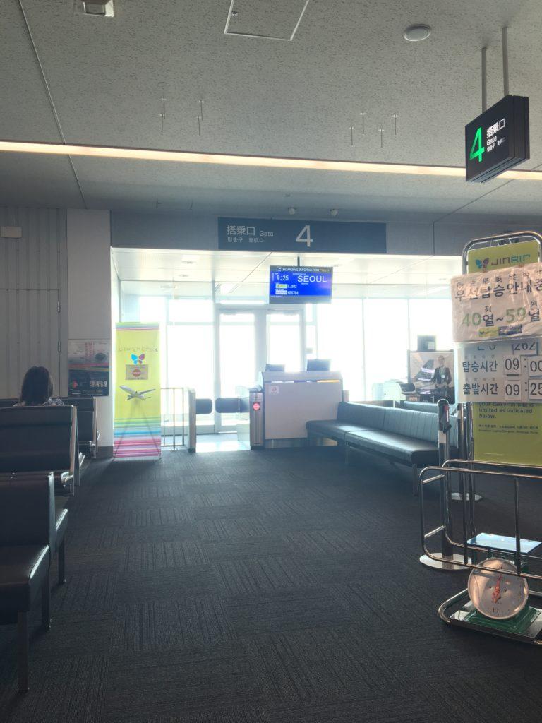 北九州空港 ジンエアー チェックイン