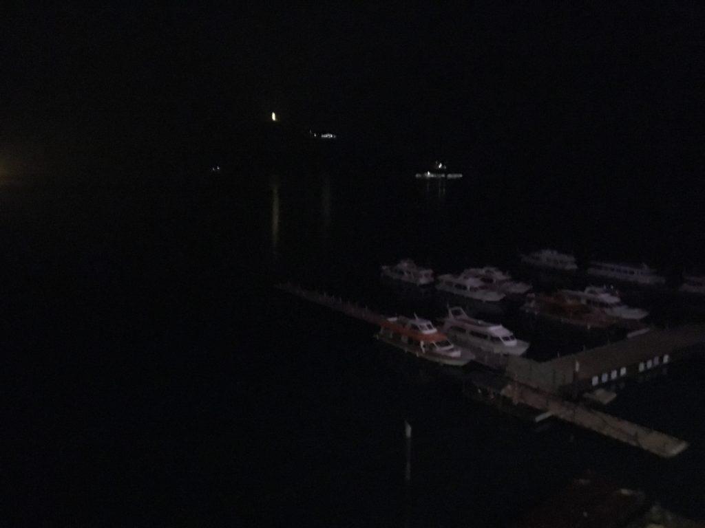 日月潭大淶閣 部屋からの眺め 夜