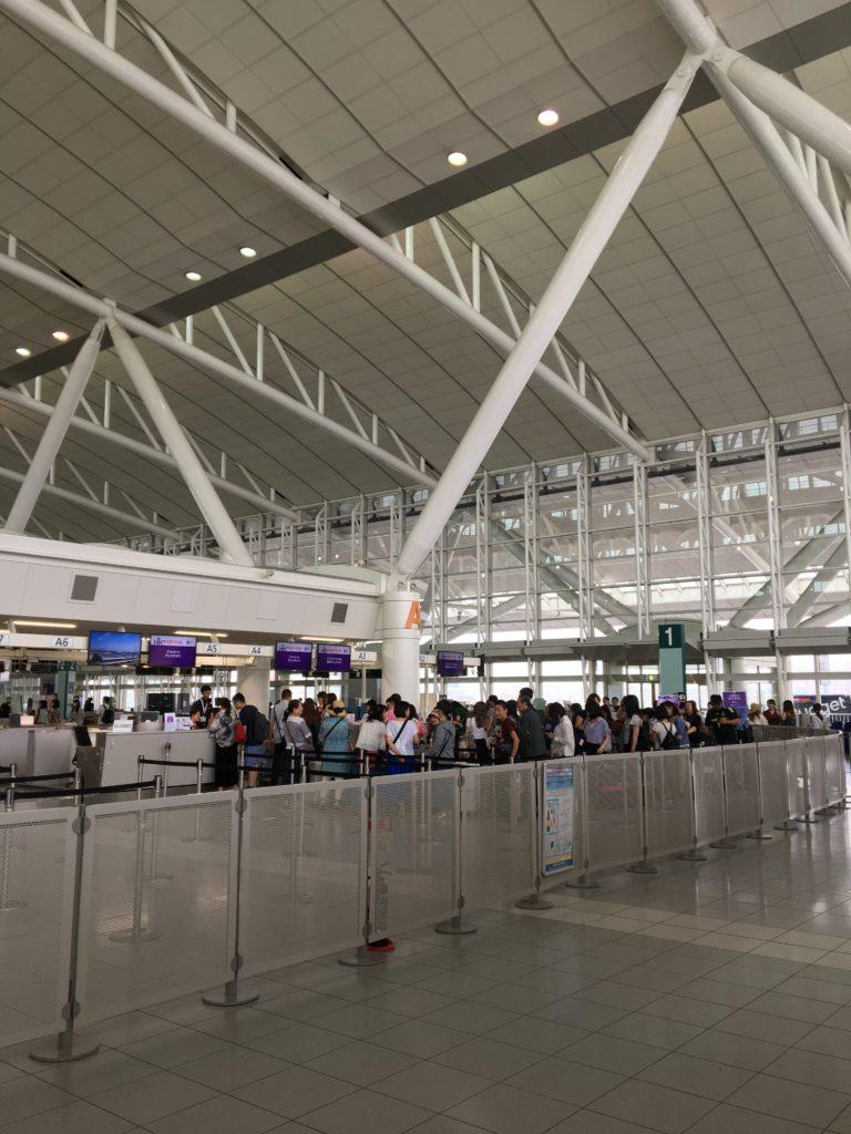 福岡空港 香港エクスプレス チェックイン