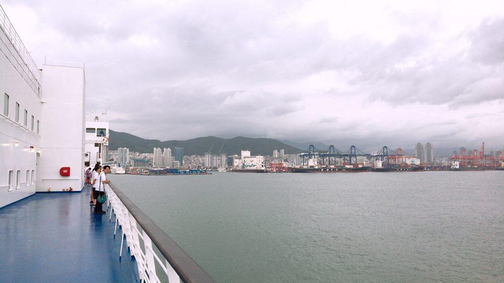 カメリア 釜山 プサン 到着