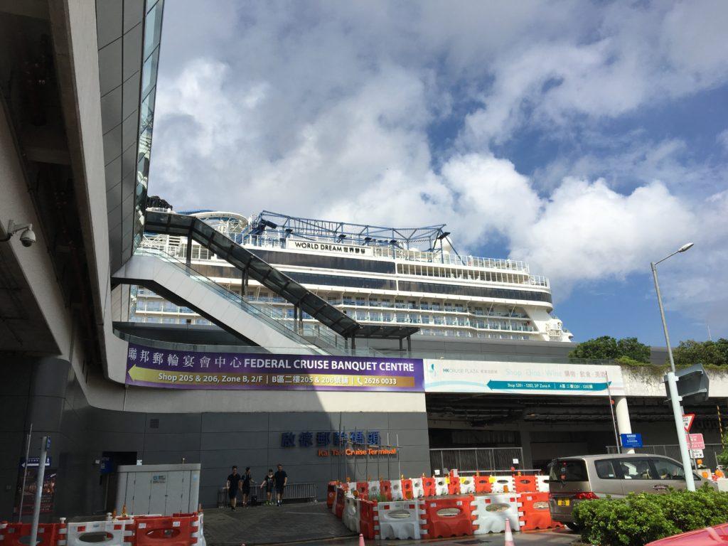 香港 クルーズ 下船