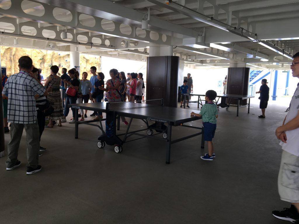 香港 クルーズ 卓球