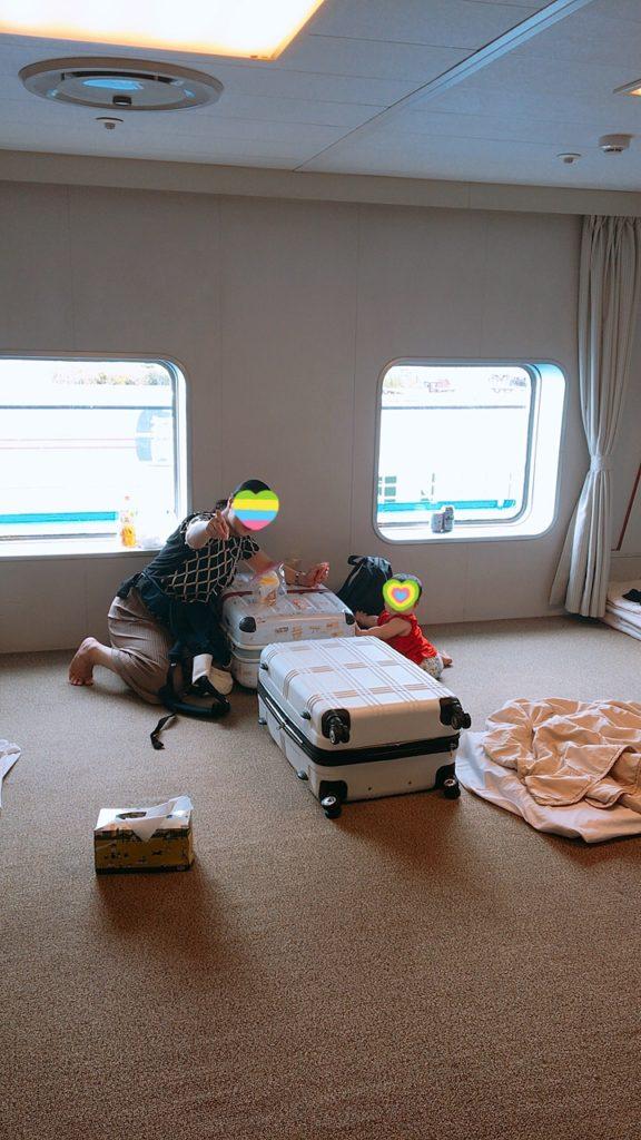 カメリアライン 客室 2等室 雑魚寝