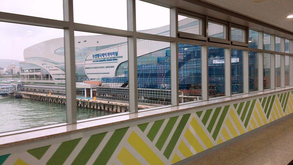 カメリア 釜山港 到着