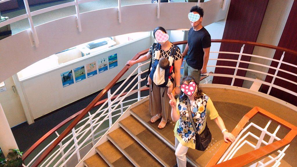 カメリアライン 船内 階段