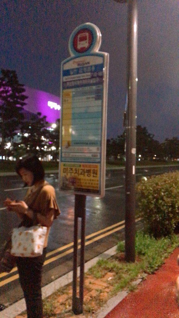 釜山国際港 バス 移動