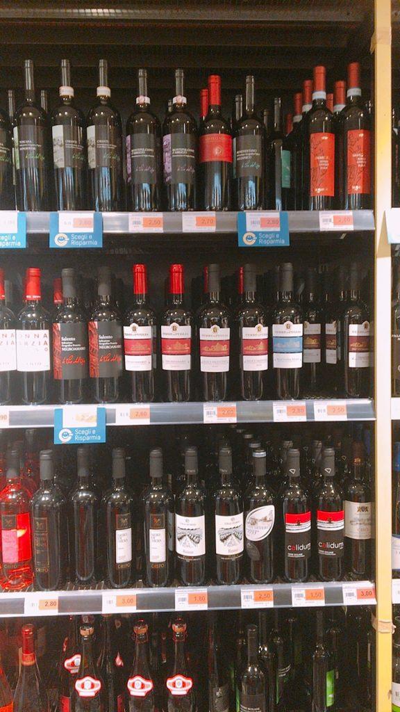 ナポリ スーパー 安い ワイン