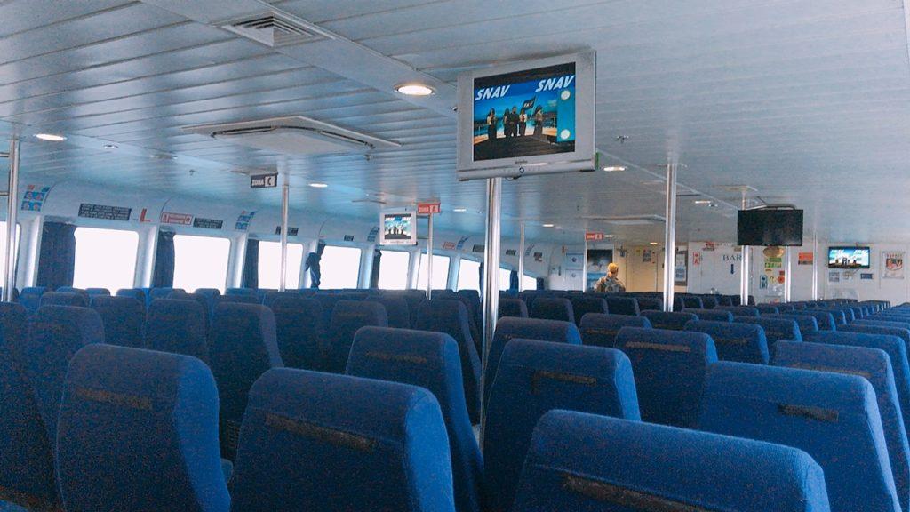 船内 カプリ島 ナポリ
