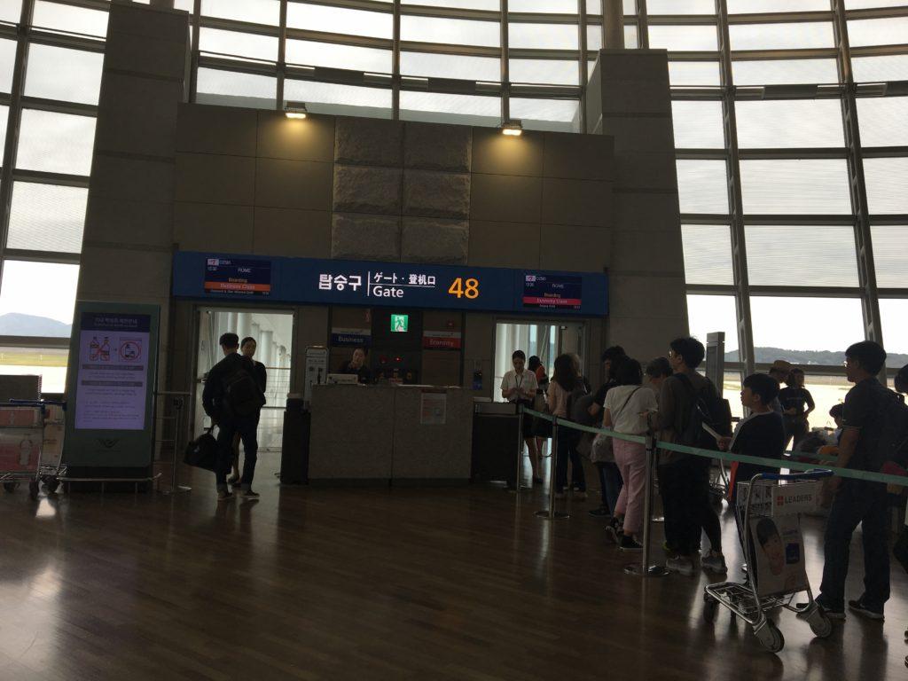 仁川空港 ローマ 乗り継ぎ ゲート