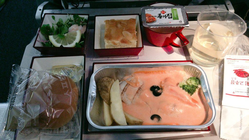 仁川 ローマ 機内食 夕食 洋食