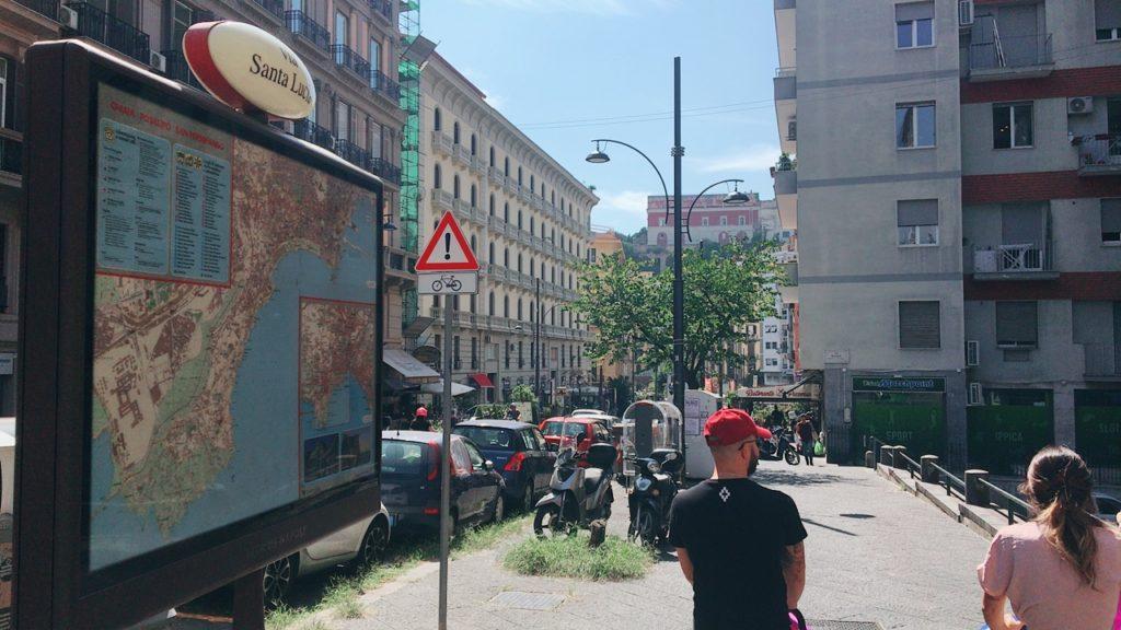 サンタルチア通り お散歩 ナポリ