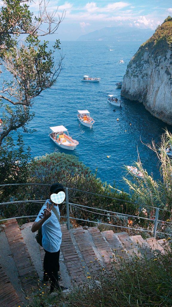 カプリ島 Grotta Azzura
