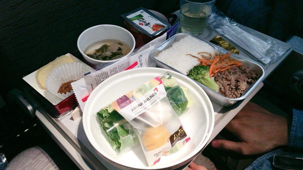 仁川 ローマ 機内食 夕食 韓国料理