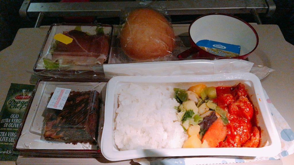 ローマ 仁川 フライト アシアナ航空 機内食