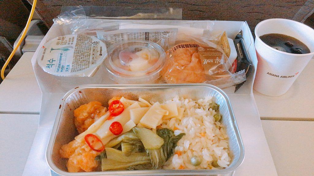 仁川 成田 フライト 機内食