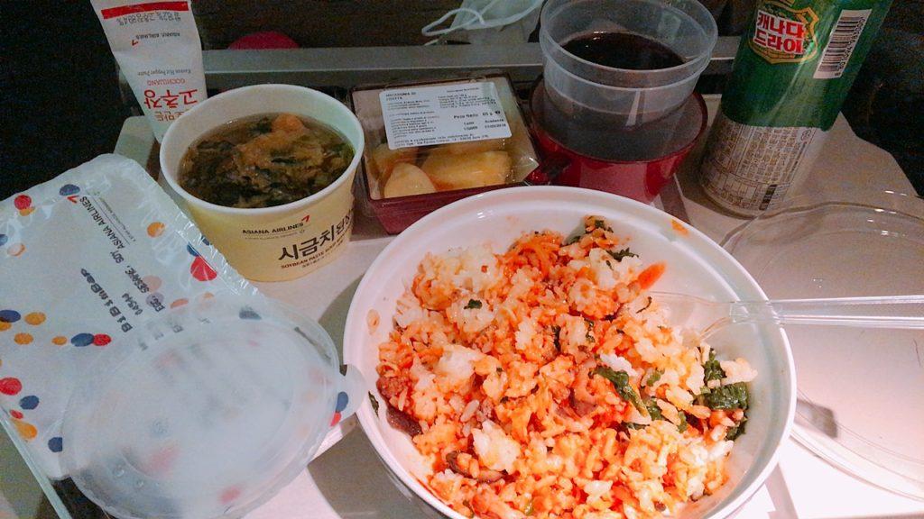 ローマ 仁川 機内食 エコノミークラス