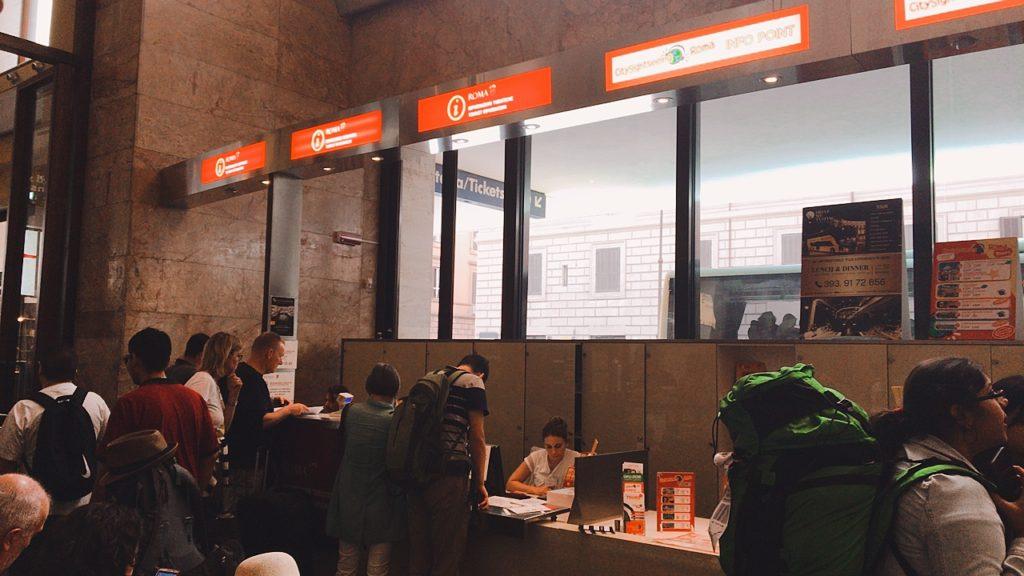 ローマパス 購入 テルミニ駅