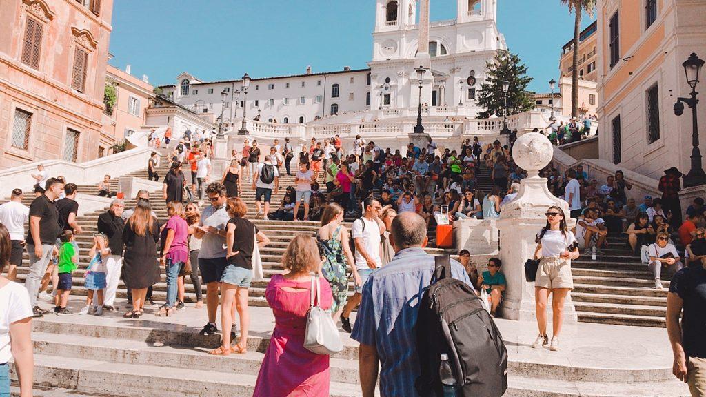 ローマの休日 スペイン広場