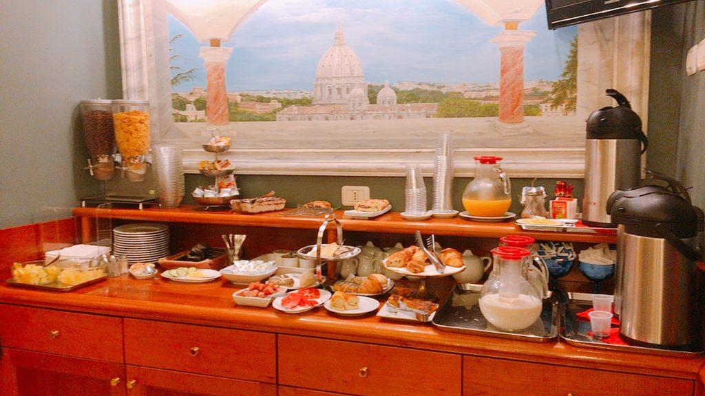 朝食 ゴールデンローマ ローマ ホテル