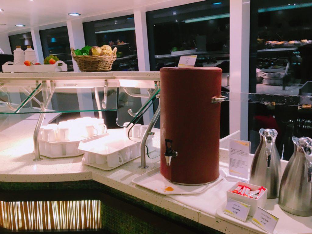 日本海クルーズ コスタ ネオロマンチカ 飲み物 紅茶 コーヒー 水筒