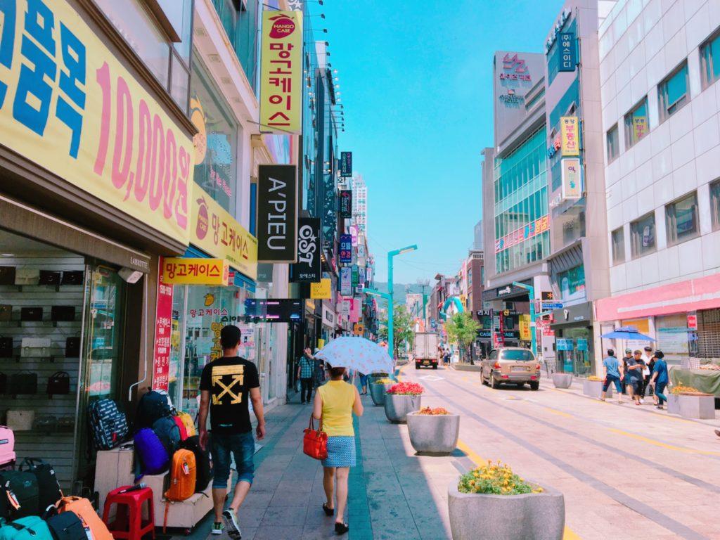 釜山 観光 買い物 光復路