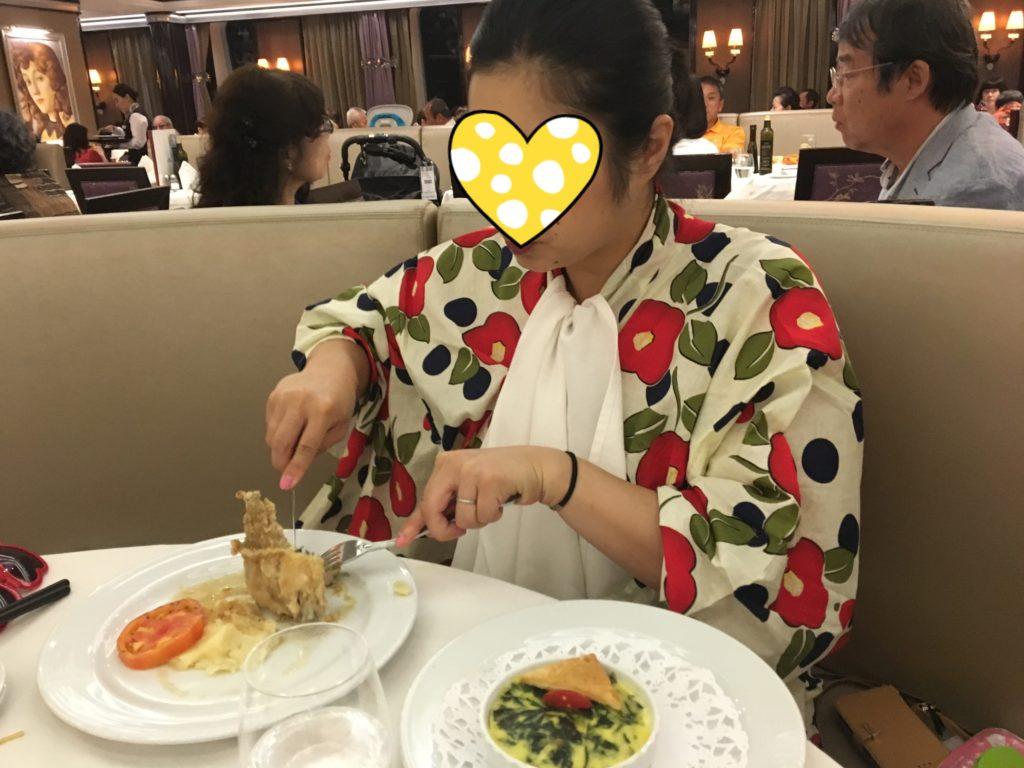 コスタクルーズ 食事 浴衣 晩御飯 夜ごはん ディナー