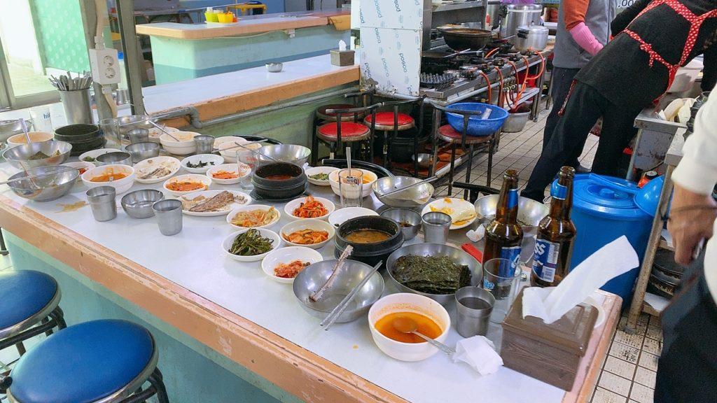 釜山 チャガルチ市場 朝食 食堂