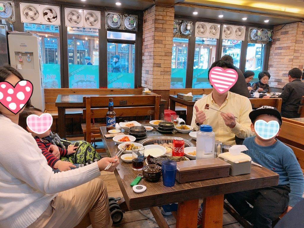 釜山 南浦 国際市場 焼肉 家族旅行 子連れ