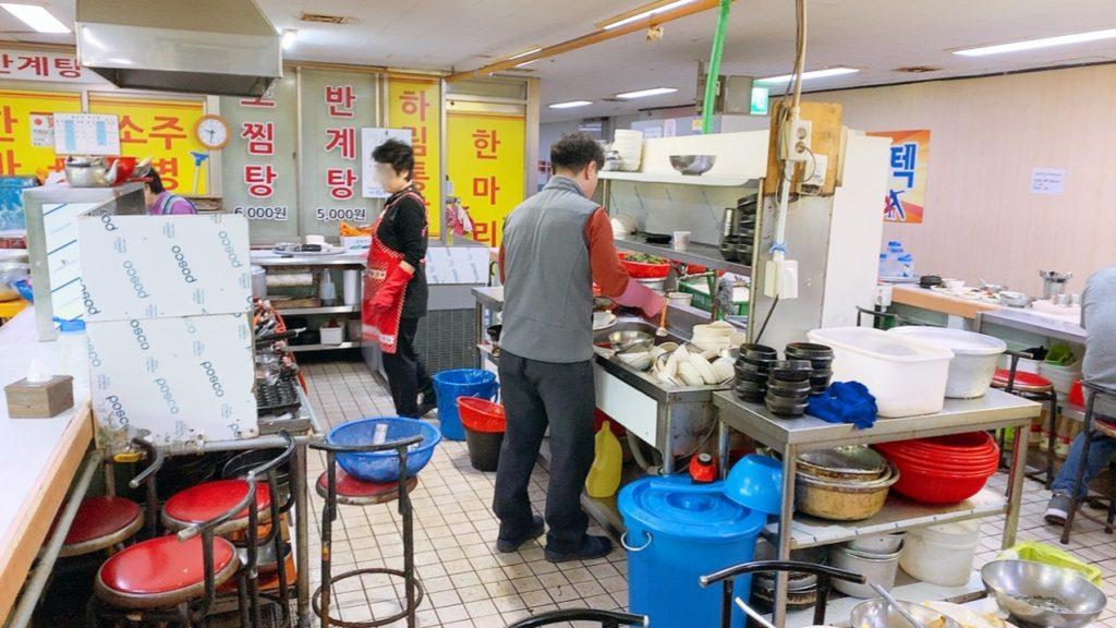 釜山 チャガルチ タミャン食堂 オススメ 朝食 ご飯