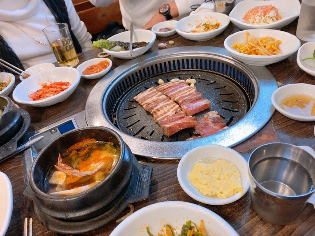 プサン ナンポドン 国際市場 焼き肉