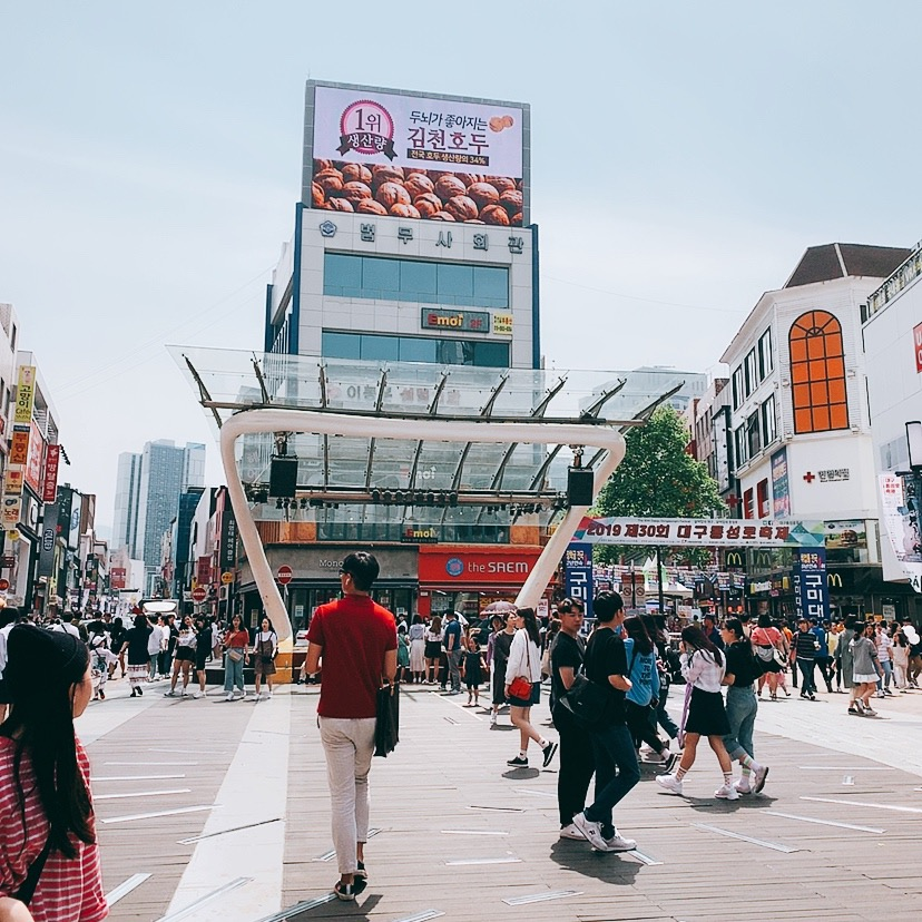 トンソンロ 東城路 タイムズスクエア テグ 韓国 旅行記