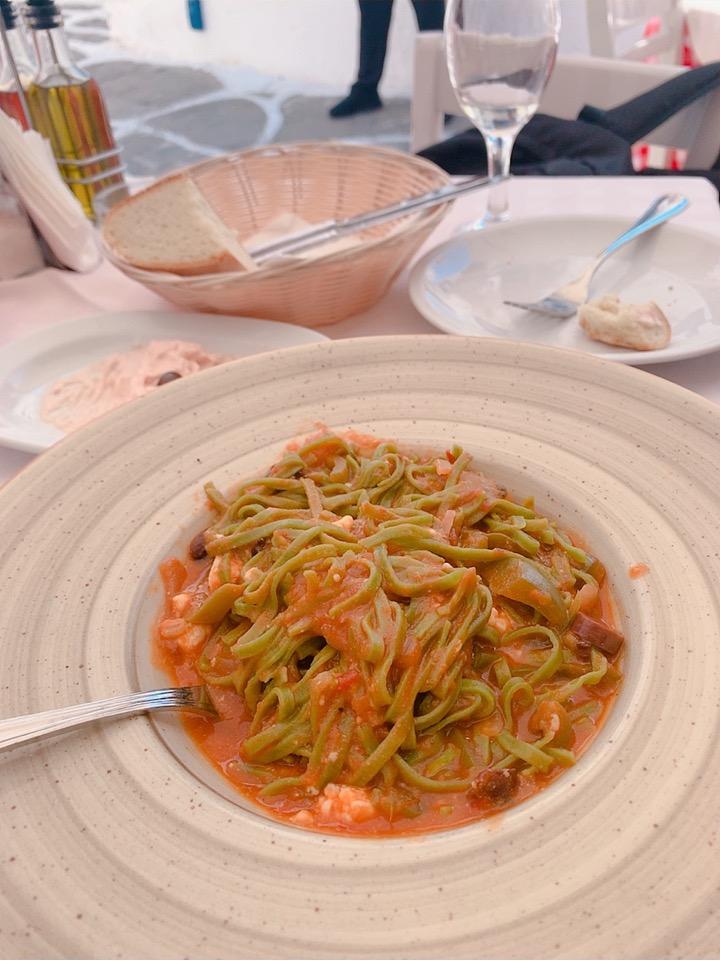 ミコノス島 お勧め 食事 ランチ レストラン