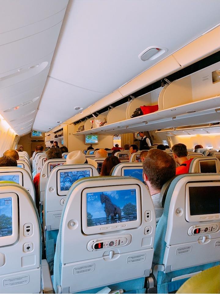 ターキッシュエアラインズ トルコ航空 アテネ イスタンブール 機内