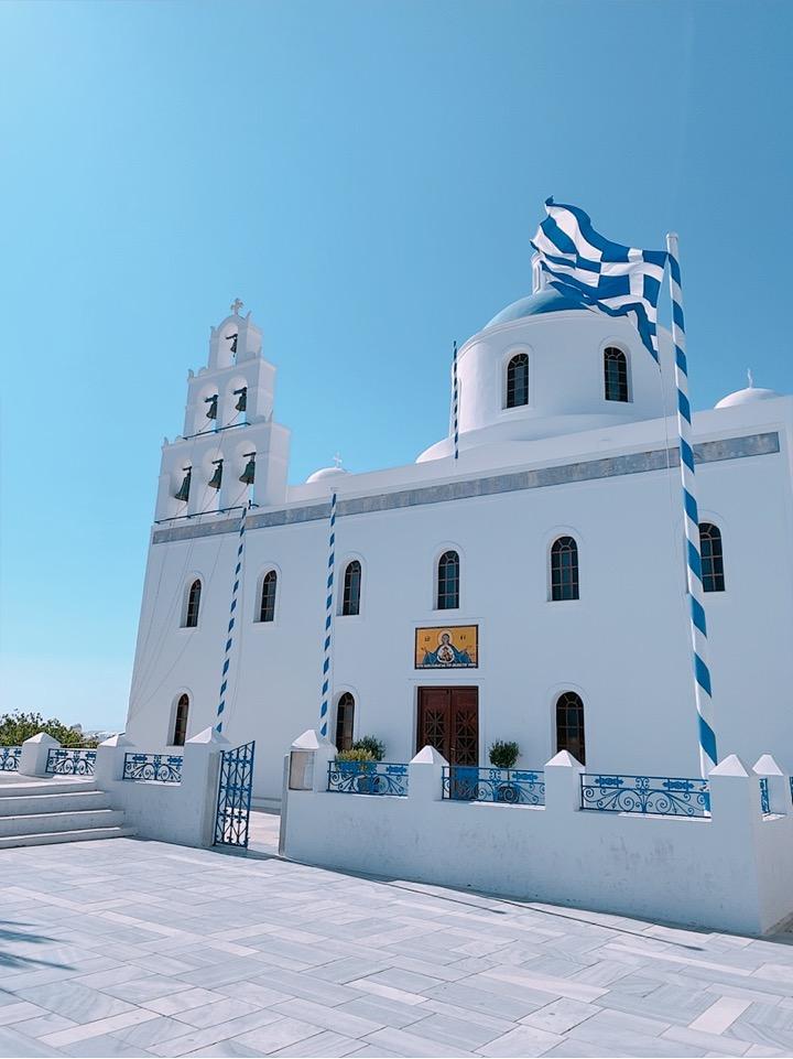 ギリシャ サントリーニ島 イア 観光 教会