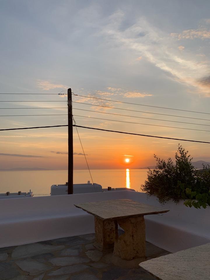 ミコノス ホテル 景色 サンセット 夕陽