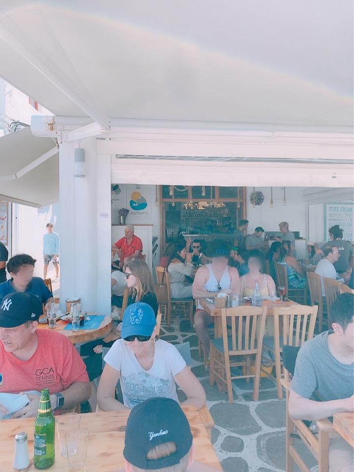 ミコノス島 お勧め シーフード レストラン