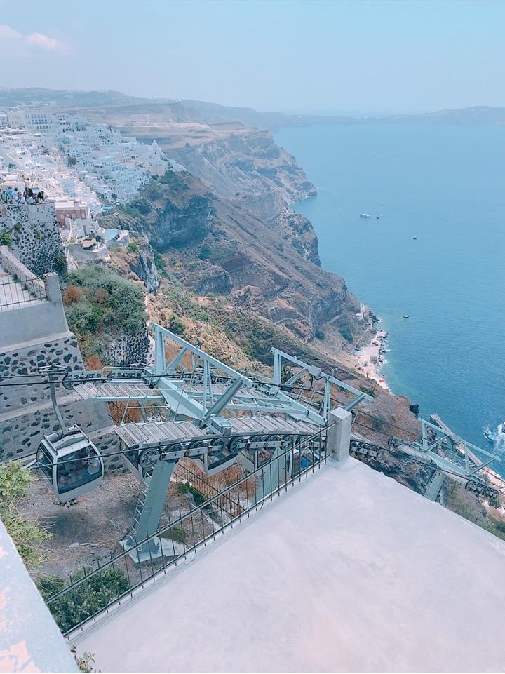Santorini Cable Car サントリーニ ケーブルカー 乗り場
