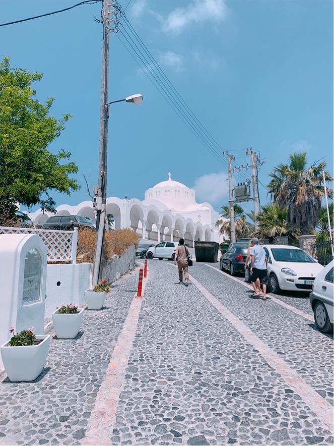 Mitropoleos Street 大聖堂 ギリシャ サントリーニ