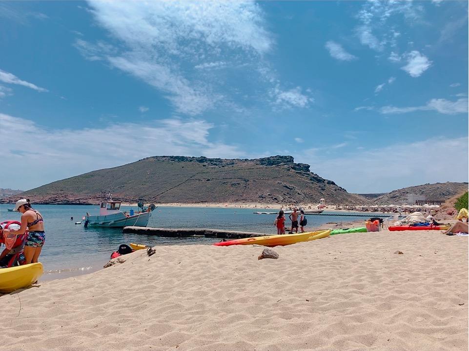 ミコノス お勧め ビーチ Panormos Beach