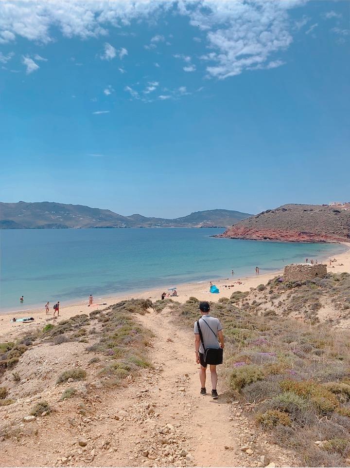 海水浴 ビーチ 徒歩 Agios Sostis Beach