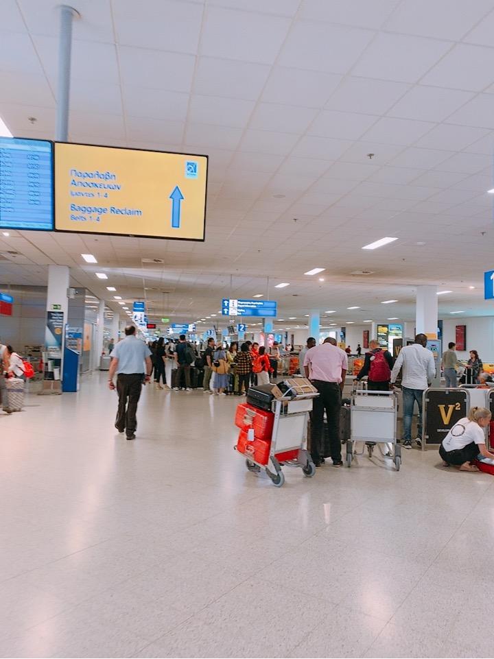 アテネ空港 アテネ国際空港 乗り継ぎ サントリーニ