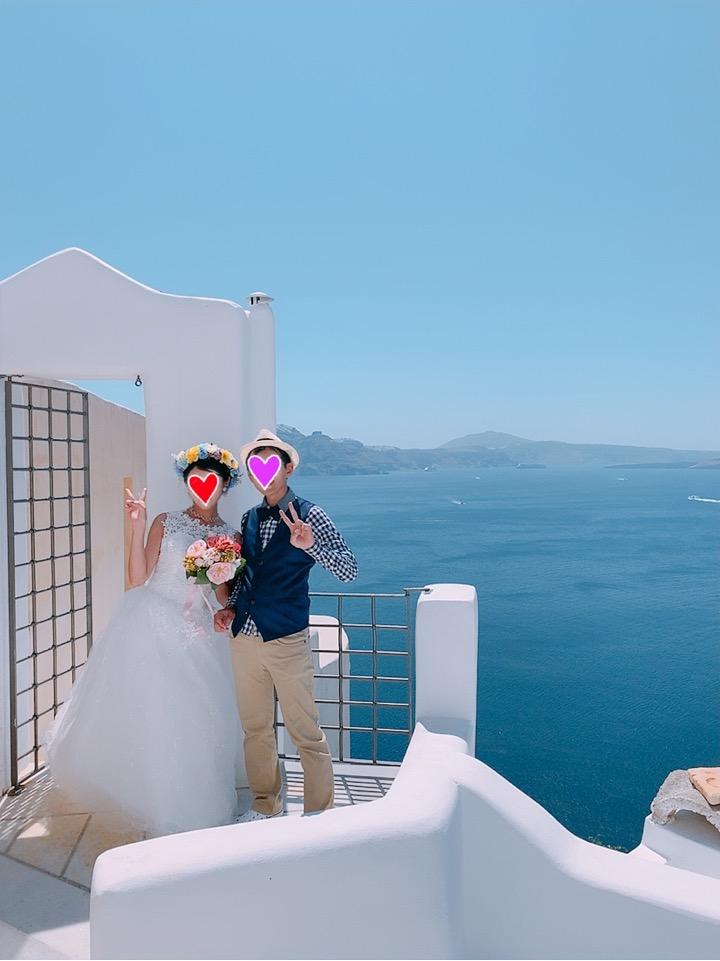 サントリーニ島 ウェディングフォト 観光