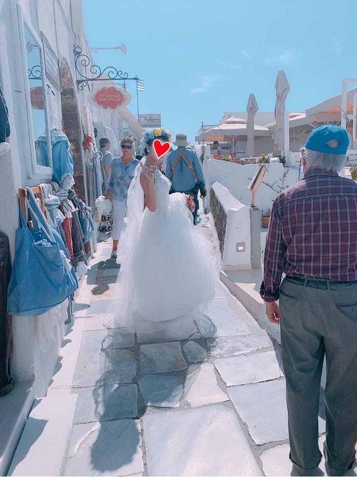 サントリーニ ウェディングフォト 結婚式