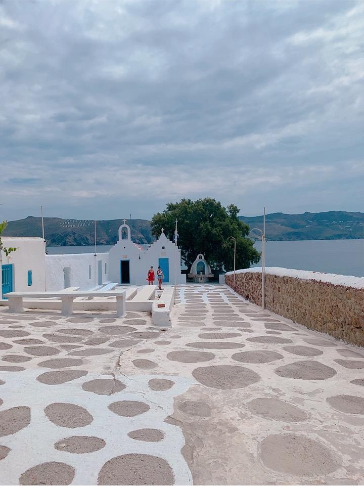 ミコノス お勧め ビーチ 海水浴 Agios Sostis Beach 徒歩 バス