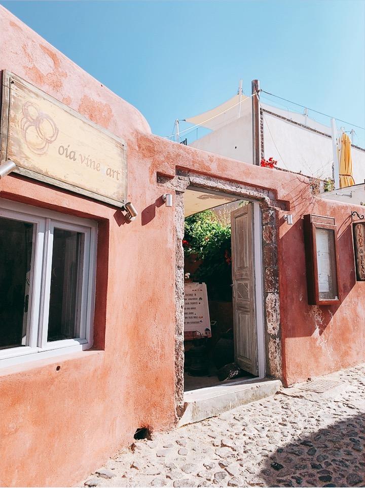 oia vineyart サントリーニ島 ワイン おすすめ バー